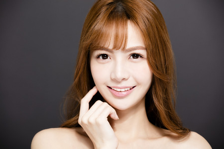 young woman with Beautiful eyes and beauty face Stock Photo