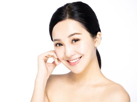 gros plan asiatique jeune beauté visage