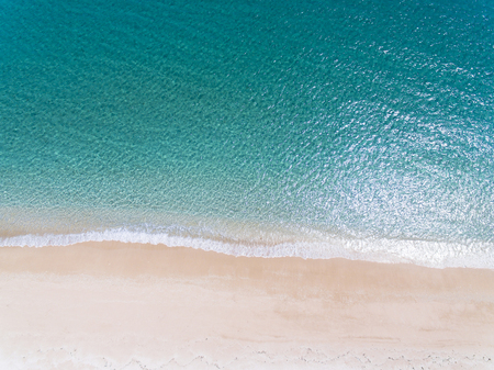 Aerial view of beautiful sandy beach