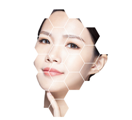Beauty, medicine, plastic surgery and skin care concept. Stock Photo