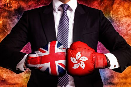 diplomatic and business trade Concept  between Hong Kong and United Kingdom