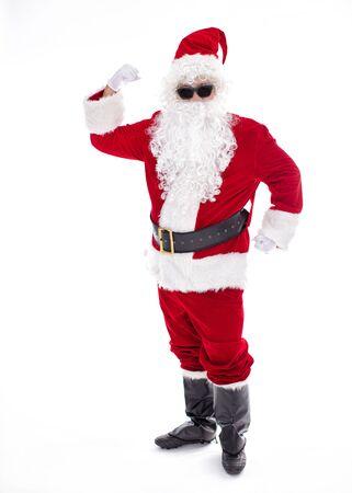 Happy  Santa Claus isolated on white background Archivio Fotografico - 133673237