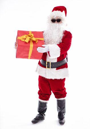Happy  Santa Claus isolated on white background Archivio Fotografico - 133673302