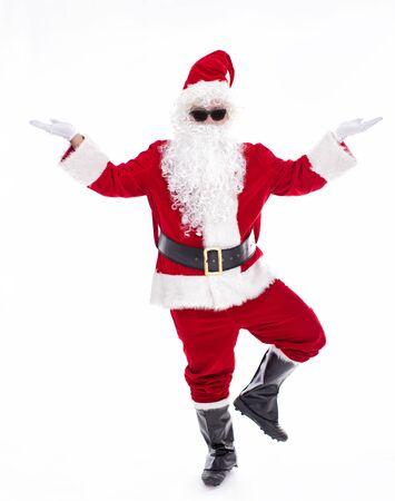 Happy  Santa Claus isolated on white background Archivio Fotografico - 133673351