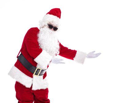 Happy  Santa Claus isolated on white background Archivio Fotografico - 133673353