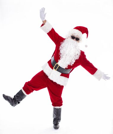 Happy  Santa Claus isolated on white background Archivio Fotografico - 133673359