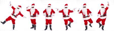Happy  Santa Claus isolated on white background Archivio Fotografico - 133673360