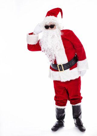 Happy  Santa Claus listening Archivio Fotografico - 133673370