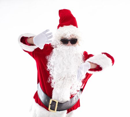 Happy  Santa Claus isolated on white background Archivio Fotografico - 133673405