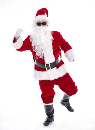 Happy  Santa Claus isolated on white background Archivio Fotografico - 133673408