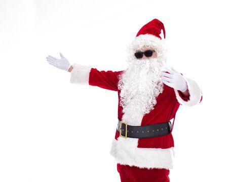 Happy  Santa Claus isolated on white background Archivio Fotografico - 133673410