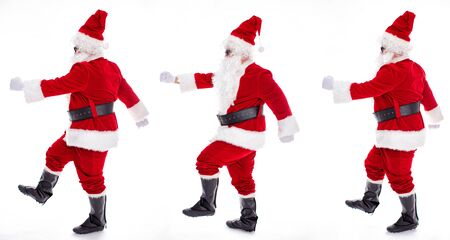 Happy  Santa Claus isolated on white background Archivio Fotografico - 133673417