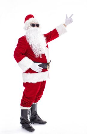Happy  Santa Claus isolated on white background Archivio Fotografico - 133673454