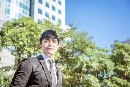 Portrait of  asian handsome business man