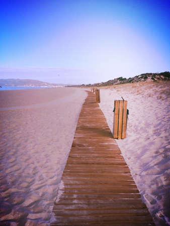 isolated: Isolated Beach Scene Stock Photo