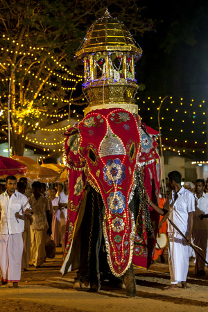 ceremonial: A ceremonial elephant parades during the Kataragama Festival in Sri Lanka. Editorial