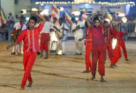 festiva: Fire Ball Dancers perform during the Kataragama Festival in Sri Lanka.