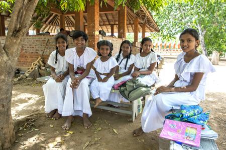 sigiriya: Sunday school students at the Pidurangala Buddhist Temple in Sigiriya, Sri Lanka. Editorial