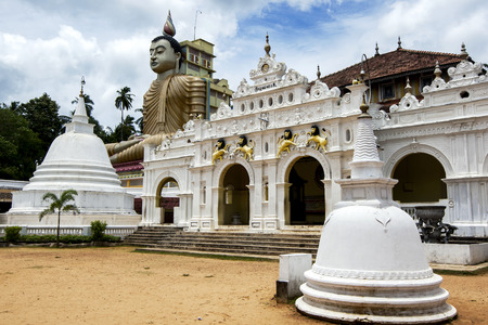 buddha sri lanka: The tallest seated Buddha in Sri Lanka can be seen at Wewurukannala Vihara near Dickwella on the southern coast of Sri Lanka.