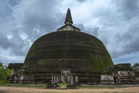 vihara: The Rankot Vihara at the ancient Sri Lankan capital of Polonnaruwa is the fourth largest dagoba in Sri Lanka. The dagoba is constructed of red brick and was built during the reign of King Nissankamalla. It stands 164 feet in height over 50 metres.