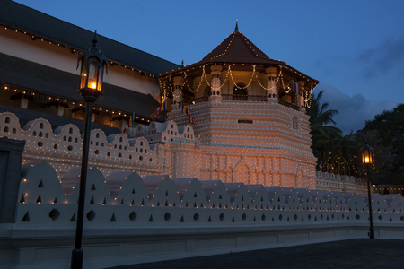 sri lanka temple: The Temple of the Sacred Tooth Relic in Kandy, Sri Lanka.