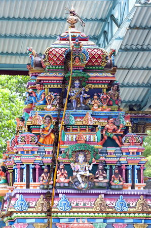 hindu gods: A section of the beautiful Koneswaram Koviltemple displaying various Hindu gods in Trincomalee in Sri Lanka. Stock Photo