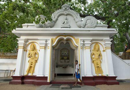 3rd century: A boy stands at the Mahavihara at the ancient city of Anuradhapura in central Sri Lanka. The Mahavihara has relics dating from the 3rd Century BC.