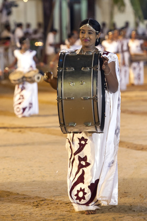 drummer: A drummer performs at the Kataragama Festival in Sri Lanka. Editorial