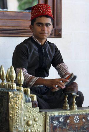 shine: A shoe shine man at work in Urfa Sanliurfa in south eastern Turkey.