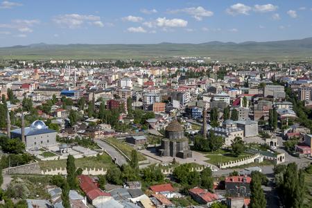 far eastern: The modern city of Kars in the far eastern region of Turkey. Stock Photo