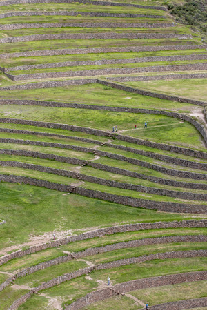 sacred valley of the incas: The incredible ancient circles of Moray in Peru. Located 50 km northwest of Cusco in the Sacred Valley of the Incas. It is believed that this was a research station where various crops were tested for their suitability to grow in the Andes harsh environme