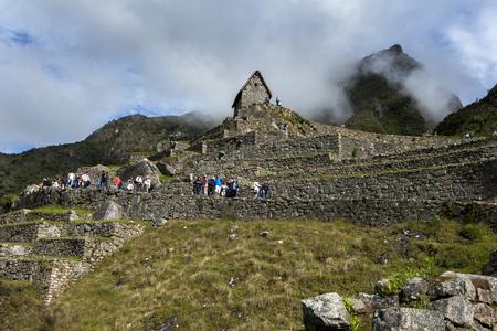 ペルーのマチュ ・ ピチュの信じられないほどの古代遺跡。マチュピチュは 2,430 m (7,970 フィート) 海抜に位置する 15 世紀インカ サイトだとクスコと