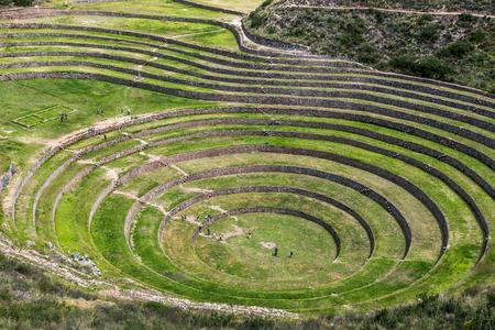alkalmasság: A részben a hihetetlen ősi körök Moray Peru. Található 50 km-re északnyugatra Cusco a Sacred Valley az inkák, úgy gondoljuk, hogy ez egy kutató állomást, ahol vaus növények teszteltük, hogy alkalmasak növekszik az Andokban ha Stock fotó