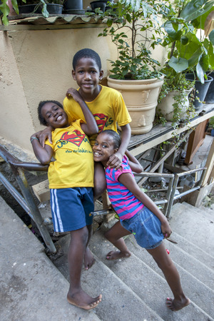 michael jackson: Happy children who live in the Santa Marta favela in Rio de Janerio, Brazil. The favela was made famous after singer Michael Jackson recorded a music video here.