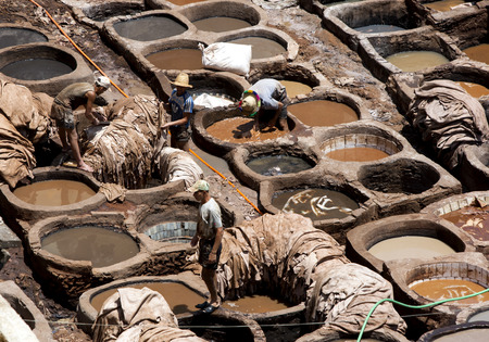 11th: The famous Chouara Tannery in the Fez medina in Morocco. The leather tannery dates back to the 11th century AD.