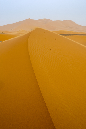 erg: Sunrise at Merzouga, which lies on the edge of Erg Chebbi(the Sand Sea), Morocco.
