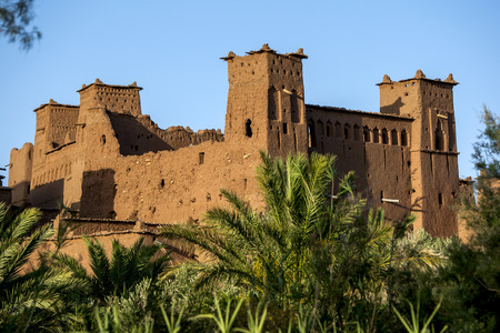 fortify: The magnificent fortified city of Ait Benhaddou, located in the High Atlas in the Province of Ouarzazate in Morocco.