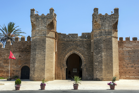 fortify: The medieval fortified entrance to Chellah necropolis. Located south of Rabat in Morocco, Chellah has existed since pre-Christian times.