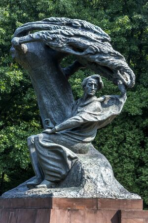lazienki: The Chopin Monument at Lazienki Park in Warsaw, Poland.