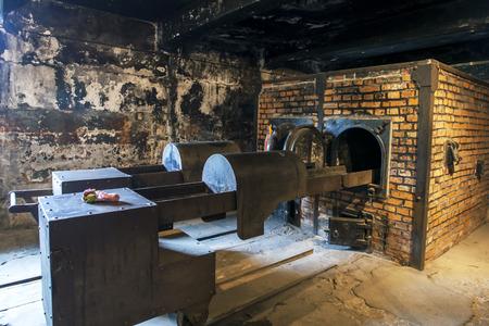crematorium: The crematorium at Auschwitz-Birkenau Concentration Camp in Poland. Auschwitz-Birkenau State Museum is located near Oswiecim in Poland.