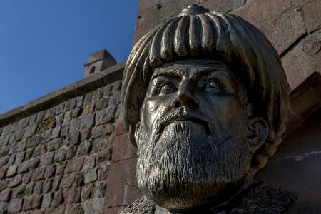 mustafa: A statue of Merzifonlu Kara Mustafa Pasha outside the Caravansary of Merzifonlu Kara Mustafa Pasha in the Cappadocia region of  Turkey.