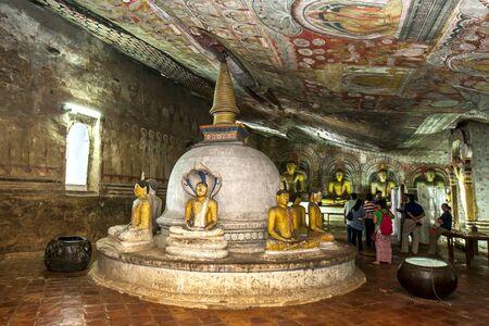 maharaja: A stupa inside Cave Two (Maharaja Viharaya) at the Dambulla Cave Temples in central Sri Lanka.