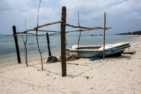delft: The peaceful beach on the western side of Delft Island in the Jaffna region of Sri Lanka. Editorial