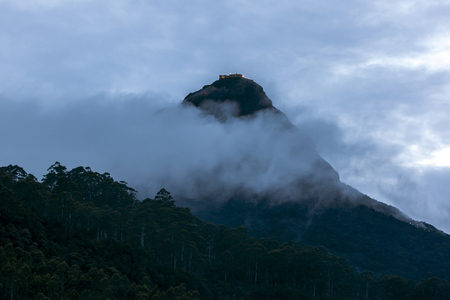 southern sri lanka: The summit of Adams Peak in the southern highlands of Sri Lanka. Stock Photo