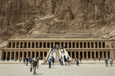 funerary: The magnificent Temple of Hatshepsut at Deir al-Bahri near Luxor in central Egypt. The temple was built by Queen Hatshepsut (1473-1458 BC) as a funerary monument for her father Tuthmosis 1 and for herself. Editorial