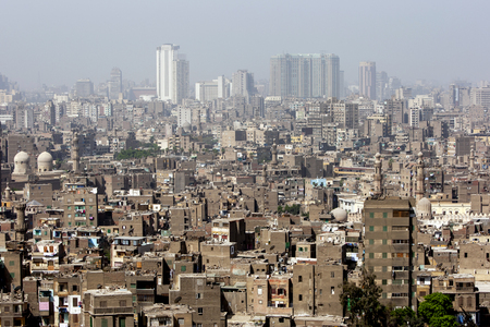 A view from the Cairo Citadel (Citadel of Salah Al-Din) in Cairo, Egypt.