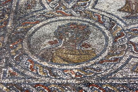 3rd century: A mosaic at Volubilis in Morocco showing Spring, medallion from the mosaic of the Four Seasons, in the dining room of the House of Dionysos, 3rd century AD. Volubilis was the ancient capital of the Roman province of Mauritania.