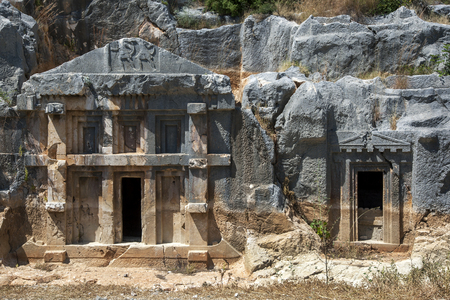 existed: The incredible craftsmanship displayed in a Lycian rock-cut tomb at the ancient site of Myra at Demre in Turkey. There is evidence a settlement at Myra existed as early as the 2nd century BC.
