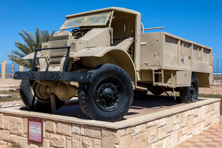 A Lory 3 Ton Ford Canada Modli 1912 on display at the El Alamein War Museum in northern Egypt.