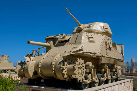 A USA General Grant Tank on display at the El Alamein War Museum in northern Egypt.